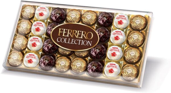 Ferrero Collection Chocolate Gift Set, Assorted Dark, Milk, Chocolate and Coconut and Almond, Box of 32 Pieces
