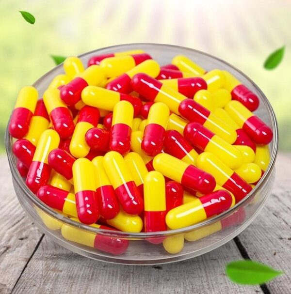 500Pcs Empty Hard Gelatin Capsule Medicine Capsule 0#Red And White Empty Pill Vitamins Personal Health Care Pill Cases Splitters