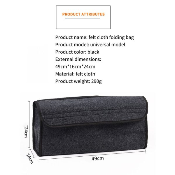 Car Trunk Organizer Storage Box Bag Foldable Soft Felt Auto Car Boot Organizer Travel Tools Stowing Tidying Container Box