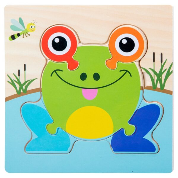 Baby Toys Wooden 3d Puzzle Tangram Shapes Learning Cartoon Animal Intelligence Jigsaw Puzzle Toys For Children Educational