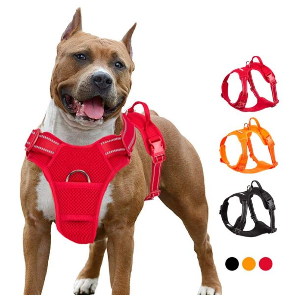 Truelove Pet Dog Harness Breathable Mesh Padded Outdoor Sport No Pull Vest Adjustable Harness For Medium Large Dog Accessories