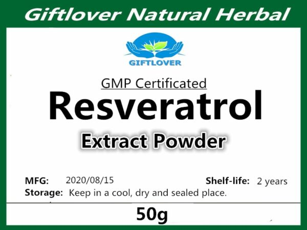 Factory direct supply, 99% Resveratrol Powder,Skin whitening,Antioxidant Trans Resveratrol Supplement,Anit-Aging,better with NMN