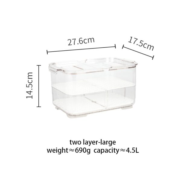 MDZF Refrigerator Food Storage Containers with Lids Kitchen Storage Seal Tank Plastic Separate Vegetable Fruit Fresh Box Big ml
