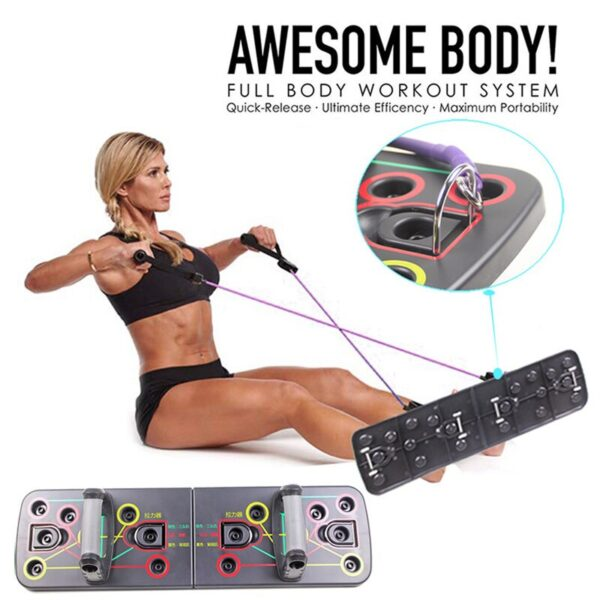 9 In 1 Push Ups Stands Rack Board Body Building Fitness Exercises Muscles Trainer Push Up Stand Borad Gym Exercise Equipment