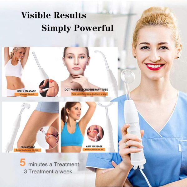 Konmison High Frequency Electrode Glass Tube Violet Purple Light Acne Wand Skin Care Spot Acne Remover Facial Spa Beauty Machine