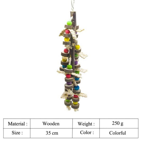Natural Wood Bird Chewing Toys Blocks Parrot Tearing Toys Best for Finch Budgie Parakeets Love Bird Parakeet Cage Accessories