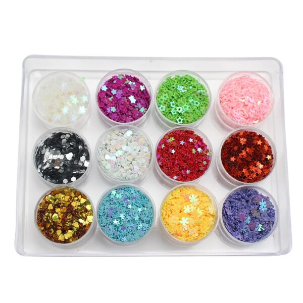 Lucia crafts Mixed 24 Colors Flake Confetti Rainbow Cup Sequin Paillette For Wedding DIY Nail Art Decor D0204