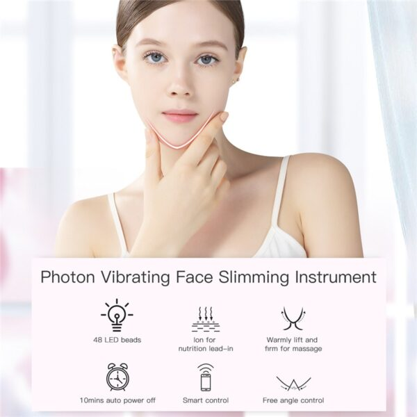 LED Photon Light Therapy V Face Massager Facial Lifting Slimming Double Chin Reducer Anti Aging Wrinkles Skin Care Beauty 43