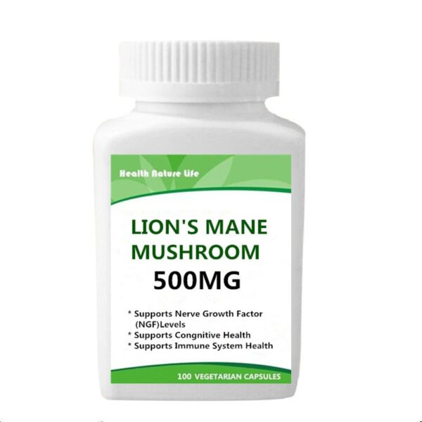Lions Mane Mushroom Capsules/Organic and Vegan Supplement - Nootropic to Support Brain Health, Neuron Growth, and Immune System