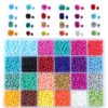 24000pcs/Box 24 Colors 2/3/4mm Small Glass Miyuki Beads Seed Bead Jewelry Material For Making Necklace Bracelet Jewelry Findings
