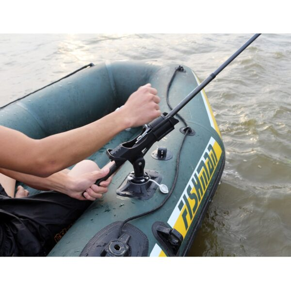 inflatable boat accessory dinghy raft fishing tool rod holder device pole pvc sup board kayak fixer fix pole mount angle A09016