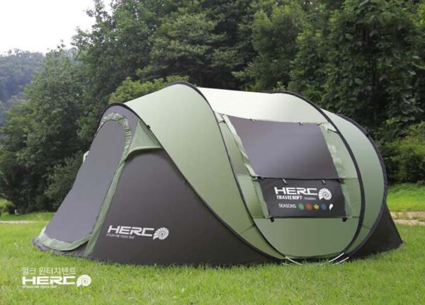 2020 New Arrival 3-4 Person Ulttralarge Automatic Windproof Pop Up Fast Opening Camping Tent Large Gazebo Beach Tent