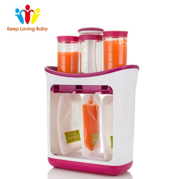 Dropshipping Baby Food Maker Squeeze Food Station Organic Food For Newborn Fresh Fruit Container Storage Baby Feeding Maker