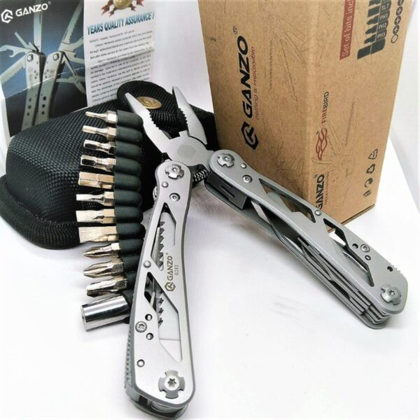 Ganzo 26 in 1 Stainless long nose EDC G202 Folding multi plier tool portable knife hand tools sets folding tools