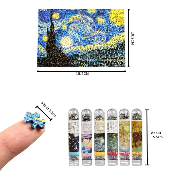 234 Pieces Multi-type Landscape Puzzle Game Test Tube Packaging Educational Toys Or Adults Puzzle Toys Kids