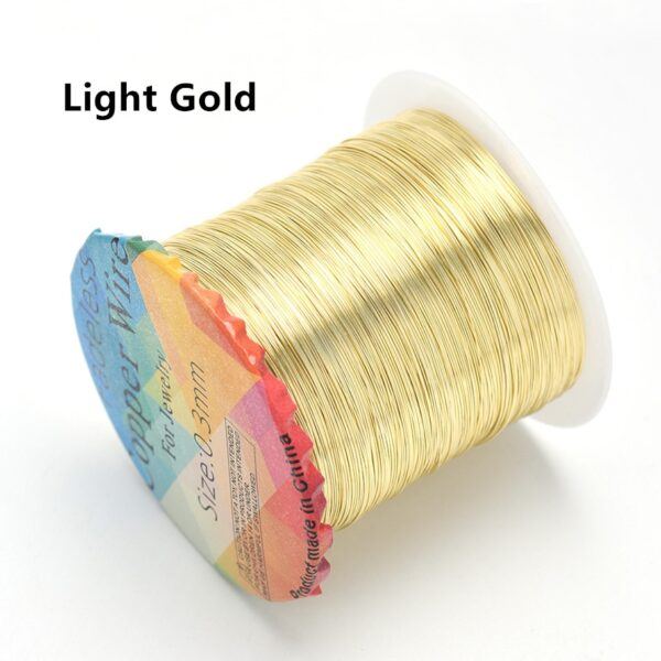 Solid Colorfast Copper Wire Tarnish-Resistant Beading Wire DIY Craft Jewelry Making Accessories 18 to 32 Gauge ( 32Ga/1969 ft )