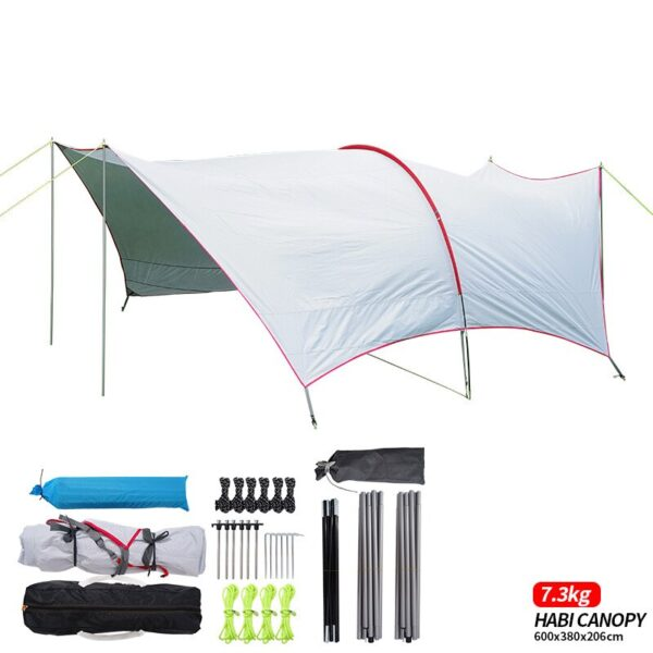 Ultralarge Anti-Uv Gazebo Summer Outdoor Super Large Camping Tent Canopy Tent Awning Advertising Tents Pergola Oxford Beach Tent