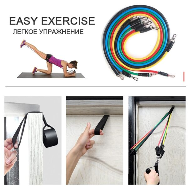 11pcs resistance bands pull up resistance band set 11 piece set pull rope fitness equipment kit fit equip training exercise yoga