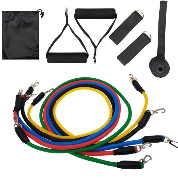 11Pcs/Set Latex Tubes Resistance Bands Home Gym Strength Training Pull Rope Yoga Tension band Fitness Equipment