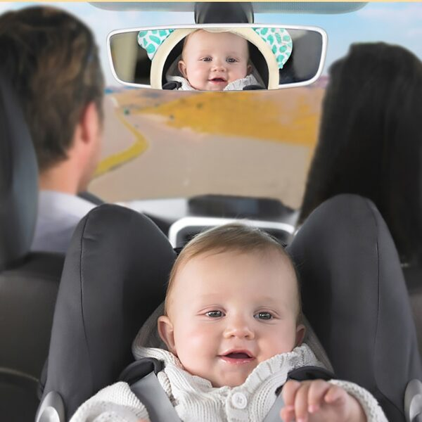 New Cute Baby Rear Facing Mirrors Adjustable Car Baby Mirror Safety Car Back Seat View Mirror for Kids Child Toddler