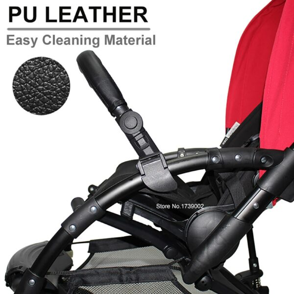 Baby Stroller Accessories Trolley Armrests Bumper Bar Handlebar PU Leather Oxford Fabric Cover For Bugaboo Bee3 Bee5 Bee 3 5