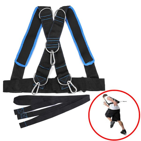 Home Gym Fitness Body Trainer Sled Harness Vest Speed Running Strength Harness Strong Harness Fitness Exercise Equipment