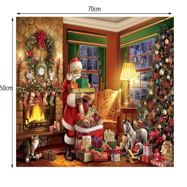Merry Christmas Gifts 1000 Piece Puzzle Large Jigsaw Puzzle For Adult Children Puzzle Game Educational Toys Home Wall Painting